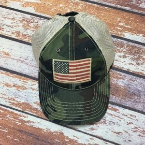 🐎Polo Ralph Lauren Flag Camo Hat NWT